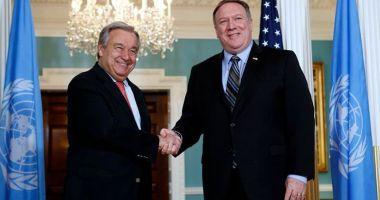 Pompeo şi Guterres au discutat la Washington despre Coreea de Nord şi Orientul Mijlociu