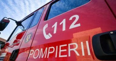 Incendiu la un autocar, în județul Constanța