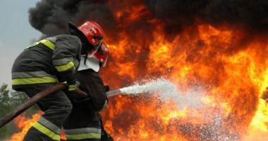 Incendiu devastator! Restaurant ars aproape în totalitate