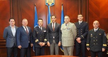 Delegaţie a Marinei Militare Franceze, în vizită la Prefectura Constanţa