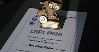 Jurnalistul Ion Tiţa-Călin,  premiat la Festivalul Naţional de Umor