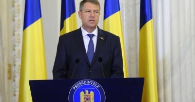 Preşedintele Klaus Iohannis: