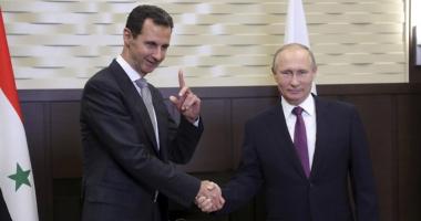 Putin l-a felicitat pe Assad pentru rezultatele în lupta împotriva terorismului