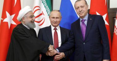 Vladimir Putin se întâlneşte în Turcia cu omologii turc şi iranian