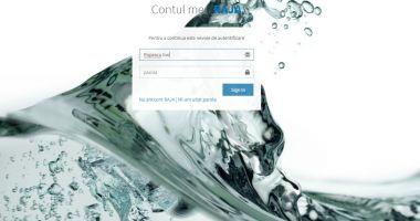Cont online pentru verificarea şi plata facturii la apă