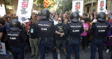 Referendum pentru independenţa Cataloniei. Poliţia spaniolă a tras cu gloanţe de cauciuc!