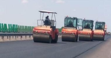 Sezonul estival întrerupe lucrările de reparații de pe Autostrada Soarelui
