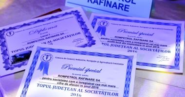 Rompetrol Rafinare, premiată pentru cifra de afaceri, profitul brut şi valoarea exporturilor din 2016