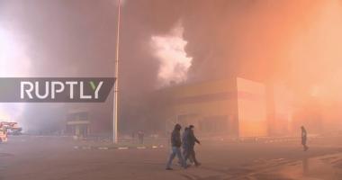 Rusia: Incendiu într-un centru comercial  de lângă Moscova
