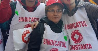 Sanitas Constanţa s-a alăturat mitingului de pichetare a Ministerului Muncii