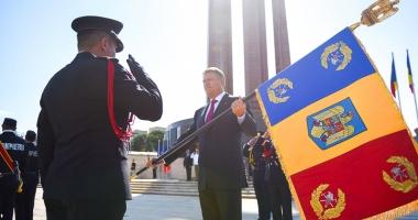 Şeful ISU Dobrogea  a primit Drapelul de Luptă din partea preşedintelui României