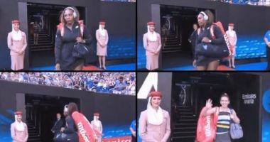VIDEO. Când uiţi că nu mai eşti nr.1 mondial! Fază amuzantă cu Serena Williams, înaintea meciului cu Simona