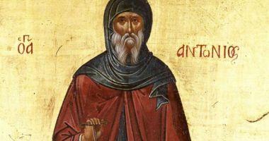 Creştinii îl cinstesc, mâine, pe Sfântul Cuvios Antonie cel Mare