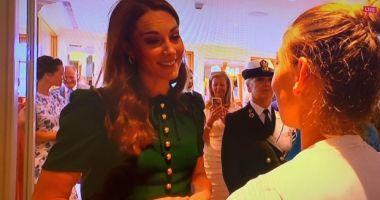 Foto : Simona Halep, moment unic la Wimbledon: Ducesa Kate Middleton a mers să o felicite personal