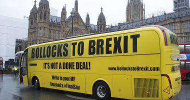 "Slogan de campanie în Marea Britanie: ""La naiba cu Brexitul"""