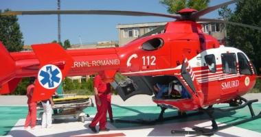 Elicopterul SMURD intervine la Castelu. O persoană s-a tăiat cu flexul