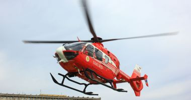 Accident grav pe DN 71! Un elicopter SMURD a intervenit pentru preluarea unui rănit