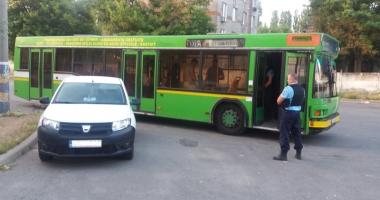 Şoferul unui autobuz RATC,  prins de jandarmi în timp ce fura motorină