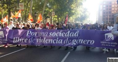Spania: Mii de persoane  au protestat la Madrid faţă  de violenţele împotriva femeilor