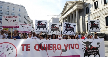 Spaniolii nu mai vor coride! Manifestaţii de amploare, la Madrid