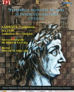 Spectacol de poezie  şi coregrafie  la Amfiteatrul  din Parcul Tăbăcărie