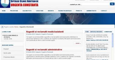 Reclamaţiile postate pe pagina web a Spitalului Judeţean nu sunt băgate în seamă