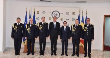 Klaus Iohannis a participat la învestirea în funcție a noului director SRI
