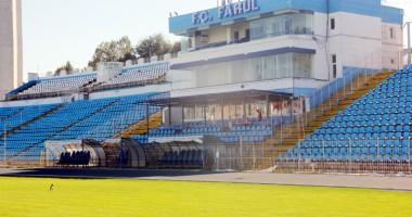 Cum arată stadionul Farul cu două zile înainte de startul Ligii a II-a