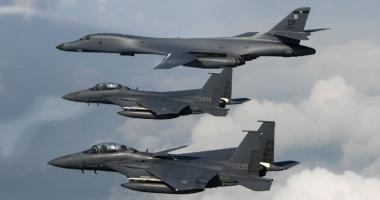 SUA nu mai au ce discuta: Primele imagini cu bombardiere B-1B în Coreea!