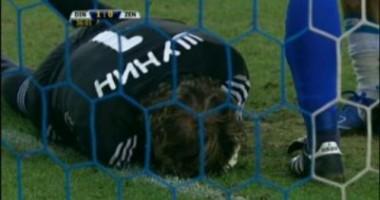 Meciul Dinamo-Zenit, suspendat din cauza unei petarde care l-a rănit grav pe portar!