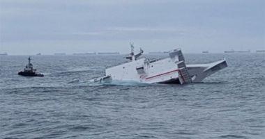 Suprastructura unei nave în construcție s-a scufundat la Ulsan