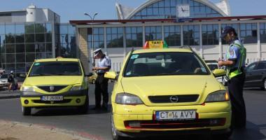 Poliţia a căşunat cu controale pe taximetriştii constănţeni