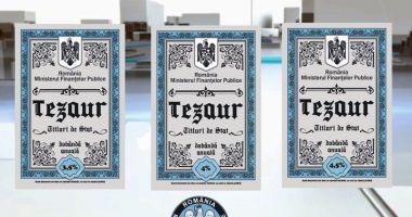 Titluri de stat Tezaur, pentru persoanele fizice, începând de miercuri, cu dobânzi de până la 4,75%