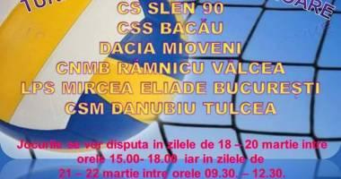 Turneul semifinal de volei - junioare la Medgidia