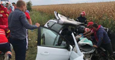 PLAN ROŞU DE INTERVENŢIE: patru morţi şi patru răniţi după un accident grav