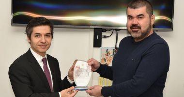 Ambasadorul Turciei în România, vizită la sediul UDTTMR, la final de mandat