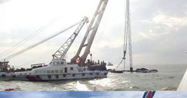 Un bulk-carrier a scufundat o ambarcaţiune a Poliţiei chineze