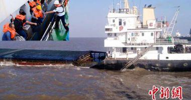 Un cargou s-a scufundat după coliziunea cu un vas de pescuit