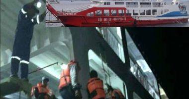 Un ferry-boat a eșuat din cauza vântului puternic