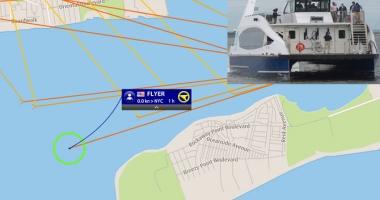 Un ferry-boat a eșuat lângă New York