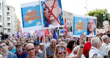 Ungaria: Manifestație împotriva lui Viktor Orban la un miting pro-UE