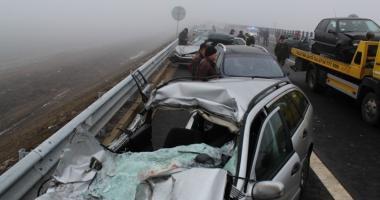 Un nou accident de amploare  pe Autostrada Soarelui.  Peste 20 de persoane rănite