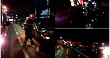 Pompier lovit de o mașină în timp ce intervenea la un accident