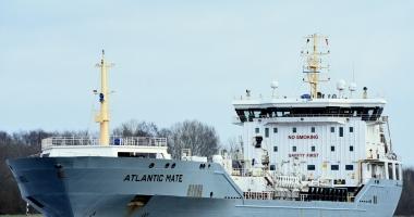 Un tanc petrolier a distrus o poartă de ecluză pe Canalul Kiel