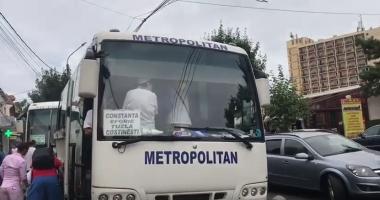 VIDEO / Scandal la Eforie! Un şofer de autobuz a refuzat să se supună controlului OPC şi a încercat să-l lovească cu autobuzul pe comisarul şef