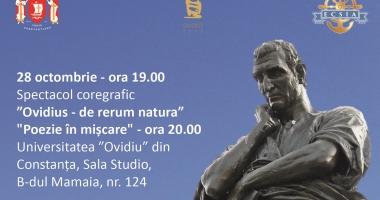 Spectacol de poezie si coregrafie la sala STUDIO a Universităţii OVIDIUS Constanţa