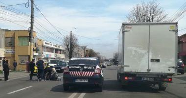 Galerie foto. ACCIDENT RUTIER LA CONSTANŢA. Pieton lovit de o maşină, pe bulevardul Brătianu
