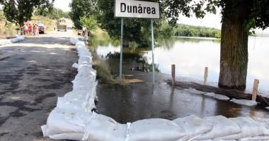 Urgia de pe Dunăre a ajuns în judeţul Constanţa