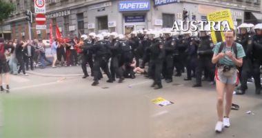 VIDEO / Jandarmeria prezintă un colaj cu modul de intervenție în UE și SUA
