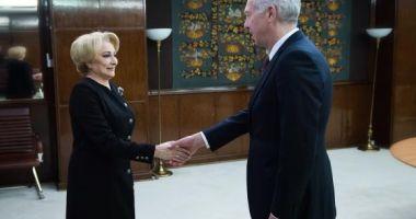 Viorica Dăncilă, întâlnire cu Hans Klemm, la Guvern